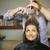 mujer · peluquero · tienda · pelo · largo · mirando - foto stock © diego_cervo