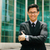 portré · kínai · üzletember · keresztbe · tett · kar · mosolyog · kívül - stock fotó © diego_cervo