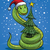 Рождества · змеи · Cartoon · Hat · дерево · символ - Сток-фото © digiselector