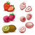 fraise · framboise · kiwi · alimentaire · nature · feuille - photo stock © digiselector