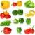 szett · különböző · édes · paprikák · izolált · fehér - stock fotó © digitalr