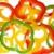 abstrakt background from bell pepper slices stock photo © digitalr
