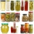 set of different berries mushrooms and vegetables conserved in glass jars stock photo © digitalr