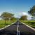 aszfalt · út · zöld · mező · kék · ég · nyár - stock fotó © digoarpi