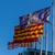 oranje · vlaggen · opknoping · buiten · blauwe · hemel · gebruikt - stockfoto © digoarpi