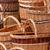 feito · à · mão · cesta · branco · topo · ver · vinho - foto stock © digoarpi