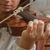 symphony orchestra on stage hands playing violin shallow depth stock photo © digoarpi