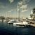 Barcelona · marina · luxus · jacht · kikötő · naplemente - stock fotó © digoarpi