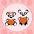 background cartoon card with pandas stock photo © dimpens