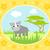 cute · Vektor · Karte · wildes · Tier · rhino · cool - stock foto © dimpens