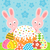 Easter background with cake and rabbits stock photo © Dimpens