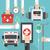 онлайн · медицина · икона · вектора · пиктограммы - Сток-фото © dimpens