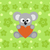 koala · Cartoon · hoja · negro · blanco · animales - foto stock © dimpens