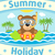 Summer sea background with bear stock photo © Dimpens