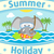 verano · mar · elefante · tarjeta · cielo · agua - foto stock © Dimpens