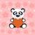 cute · panda · coeur · Valentin · amour - photo stock © dimpens