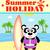 nyári · szabadság · panda · szörfös · égbolt · víz · háttér - stock fotó © Dimpens