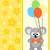background card with koala stock photo © dimpens