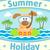 nyár · tenger · kutya · kártya · égbolt · víz - stock fotó © Dimpens