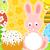 húsvét · nyúl · torta · kártya · tavasz · absztrakt - stock fotó © Dimpens