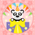 cartoon background with panda stock photo © dimpens