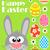 joyeuses · pâques · carte · de · vœux · lapin · lapin · texte · vert - photo stock © dimpens