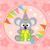 Cartoon · koala · funny · flor · sonrisa · fiesta - foto stock © Dimpens