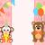macaco · convite · ilustração · bonitinho · desenho · animado · sorrir - foto stock © dimpens