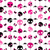 girlish aggressive cute black and red seamless pattern stock photo © dip