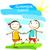 acampamento · de · verão · cartaz · feliz · crianças · mãos · sol - foto stock © dip