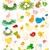 Paskalya · tavuk · aile · ahşap · kuşlar · oyuncaklar - stok fotoğraf © dip