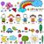 criança · como · desenhos · conjunto · crianças · nuvens - foto stock © dip