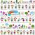 colorido · padrão · crianças · bonitinho · natureza · elementos - foto stock © dip