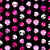 girlish aggressive cute black and pink skulls seamless pattern stock photo © dip