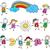 ragazzi · gruppo · Rainbow · mani · sorriso · bambini - foto d'archivio © dip