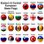 мяча · флагами · восточных · центральный · европейский · свет - Сток-фото © dip