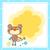 macaco · convite · ilustração · bonitinho · desenho · animado · sorrir - foto stock © dip