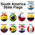Бразилия · Боливия · флагами · головоломки · изолированный · белый - Сток-фото © dip