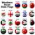 мяча · флагами · западной · азиатских · свет · дизайна - Сток-фото © dip