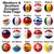 мяча · флагами · западной · южный · европейский · свет - Сток-фото © dip
