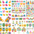 colorato · abstract · design · elementi · icone · internet - foto d'archivio © dip