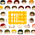 crianças · faces · menu · crianças · olhos · projeto - foto stock © dip