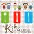 çocuklar · menü · dizayn · örnek · çocuklar · mutlu - stok fotoğraf © dip