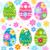 renkli · paskalya · yumurtası · arka · plan · Paskalya · tebrik · kartı · yumurta - stok fotoğraf © dip