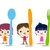 crianças · faces · menu · crianças · feliz · olhos - foto stock © dip