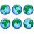 pianeta · terra · blu · isolato · bianco · dettagliato - foto d'archivio © dip