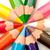 primo · piano · colorato · matite · cerchio · bianco · arte - foto d'archivio © discovod