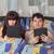 lit · jeunes · animé · couple - photo stock © Discovod