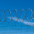 fotó · öreg · rozsdás · szögesdrót · égbolt · absztrakt - stock fotó © discovod