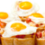 yumurta · mini · çavdar · tost · yeşil · soğan - stok fotoğraf © discovod